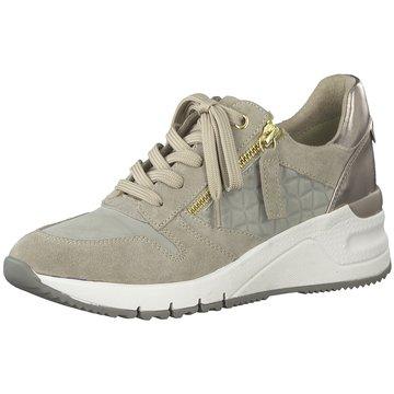 Tamaris Sneaker WedgesDa.-Schnürer beige