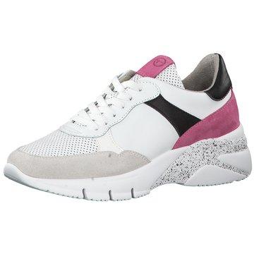 Tamaris Plateau Sneaker weiß