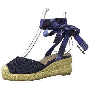 Tamaris Espadrilles Sandalen blau