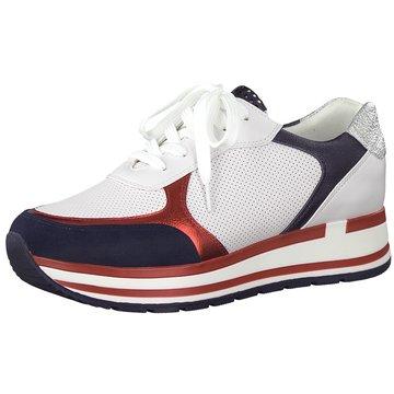 Marco Tozzi Plateau Sneaker weiß