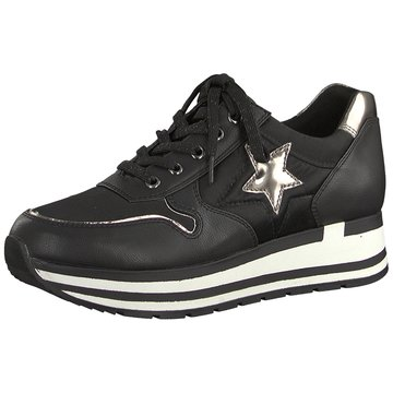Marco Tozzi Plateau Sneaker schwarz