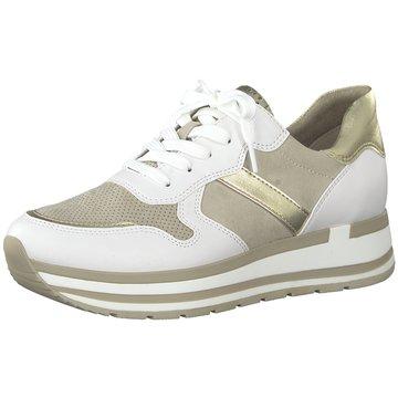 Marco Tozzi Plateau Sneaker beige