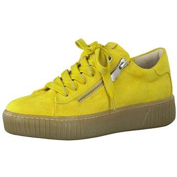 Marco Tozzi Plateau Sneaker gelb