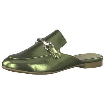 Marco Tozzi Top Trends Pantoletten grün