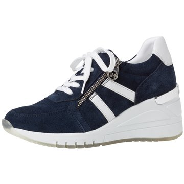 Marco Tozzi Sneaker Wedges blau