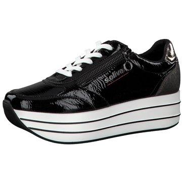 s.Oliver Plateau Sneaker schwarz