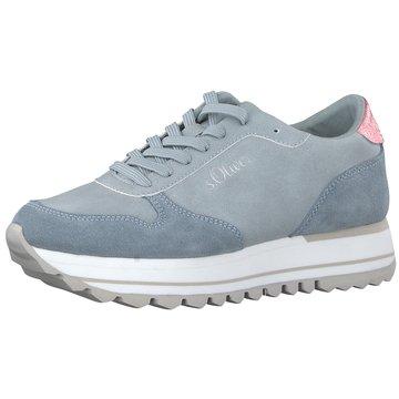 s.Oliver Plateau Sneaker blau