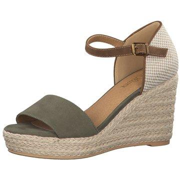 s.Oliver Top Trends Sandaletten grün