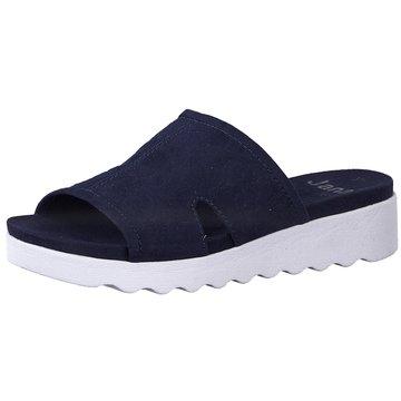 Jana Komfort Pantolette blau