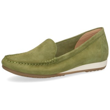 Caprice Mokassin Slipper grün