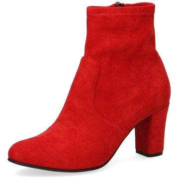 Caprice Klassische Stiefelette rot