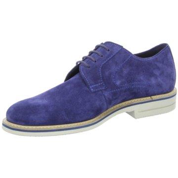 SIOUX Eleganter Schnürschuh blau