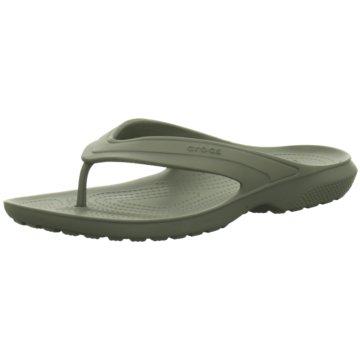 Crocs Bade-Zehentrenner grau