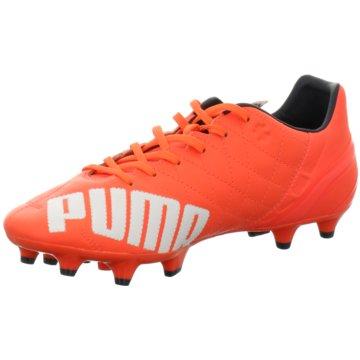 Puma Nocken-SohleevoSPEED 3.4 Lth FG Herren Fußballschuhe Leder orange