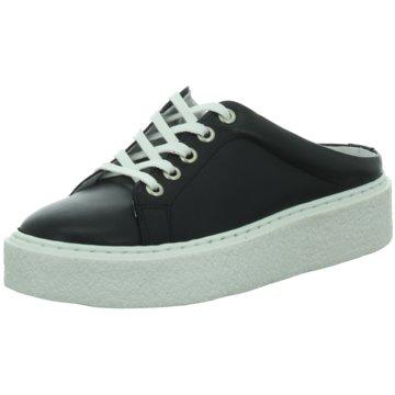 Online Shoes Plateau Pantolette schwarz