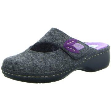 Franken Schuhe Hausschuh grau