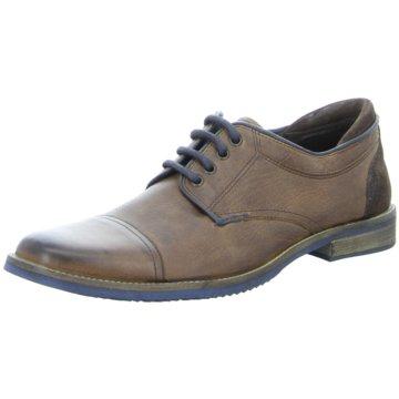 Montega Shoes & Boots Eleganter Schnürschuh braun