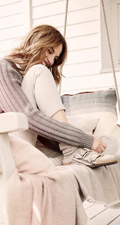 FashionWorld Komfort Kuschelige Hausschuhe