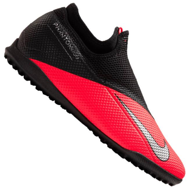 Nike Phantom VSN Academy TF Fußballschuhe Noppen grau rot