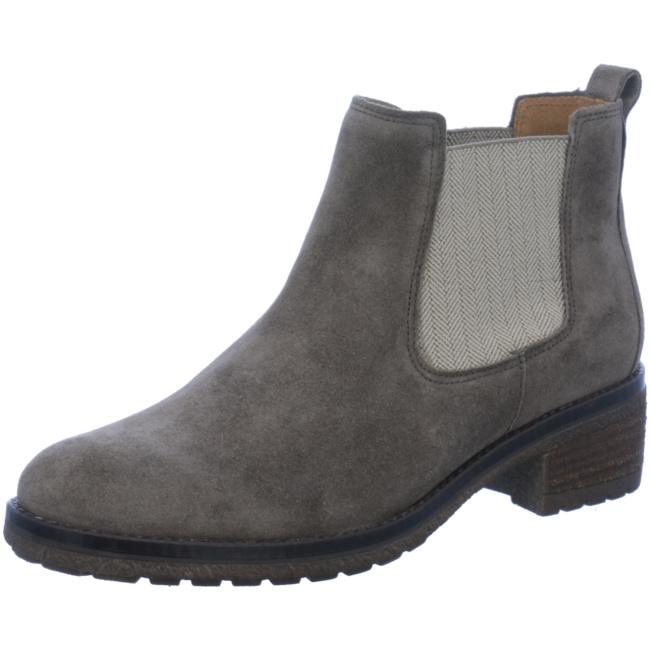Gabor Damen Chelsea Boots Schlupfschuhe Stiefeletten Blockabsatz Leder Schuhe