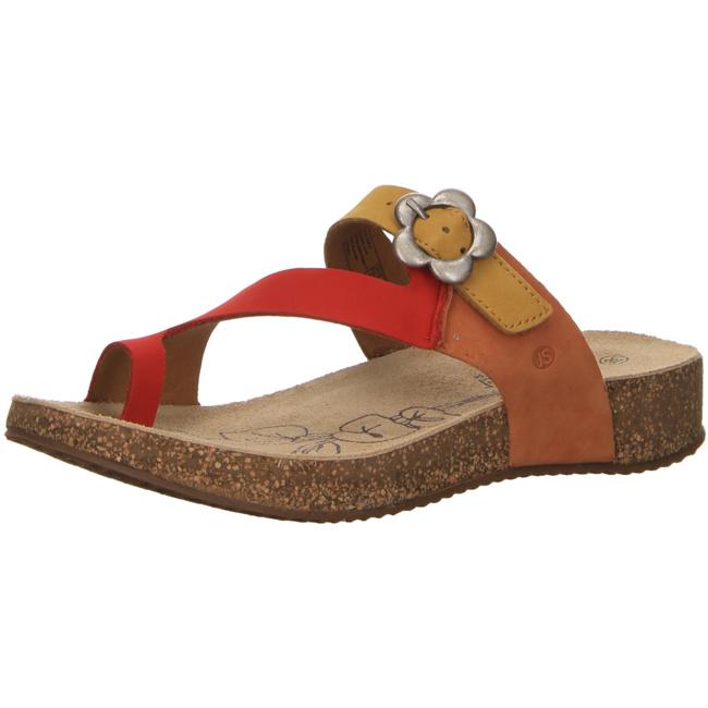 Josef Seibel Tonga Damen Sandalen Pantoletten Rot, Größenauswahl:41