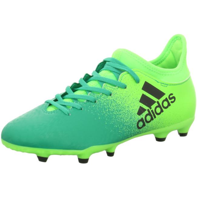 Großhandelspreis heiße neue Produkte exklusives Sortiment adidas X 16.3 FG Kinder Fußballschuhe Nocken grün Fußballschuhe