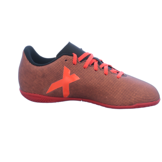 adidas X 17.4 Indoor Kinder Fußball Hallenschuhe rot schwarz Trainings und Hallenschuh