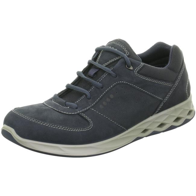 Ecco Sneaker schwarz Wayfly Blac Nubukleder Herren Schuhe