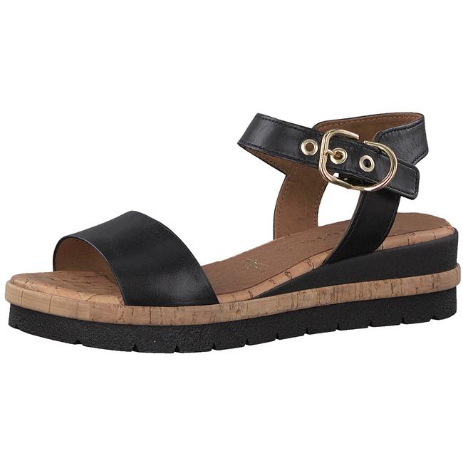 tamaris sandalen schwarz damen